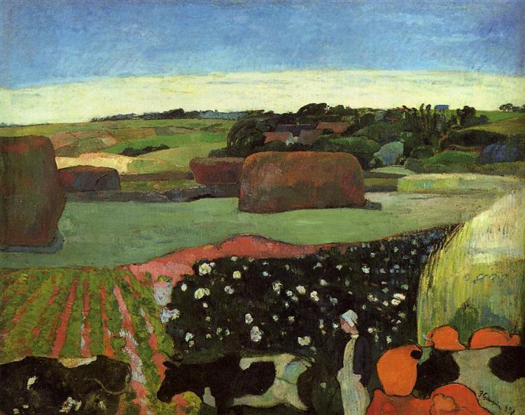 Haystacks in Brittany, 1890 - Paul Gauguin