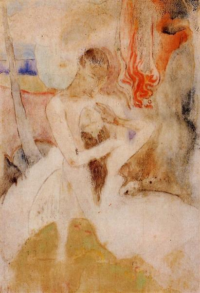 Here we make love, c.1893 - Paul Gauguin