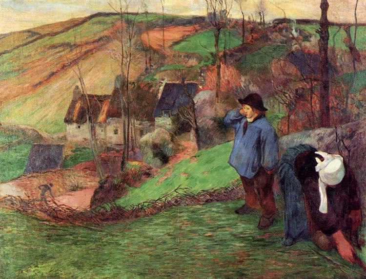 Landscape of Brittany, 1888 - Paul Gauguin