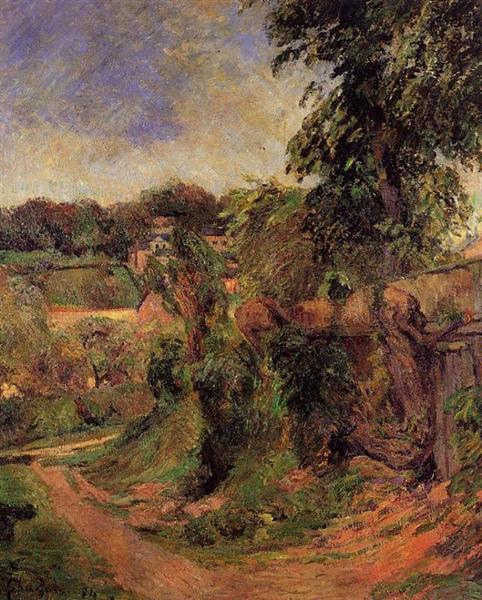 Near Rouen, 1884 - Paul Gauguin