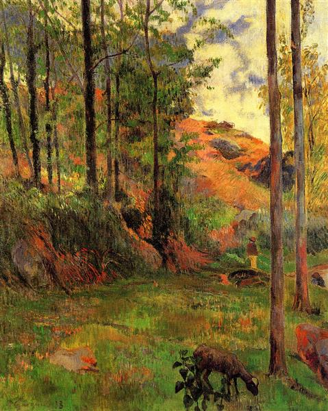 Path down to the Aven, 1888 - Paul Gauguin