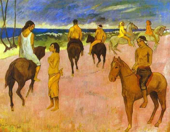 Riders on the beach II, 1902 - Paul Gauguin
