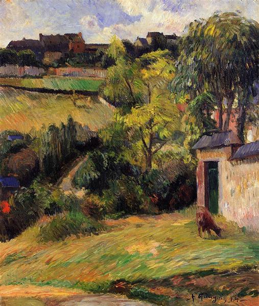 Rouen suburb, 1884 - Paul Gauguin