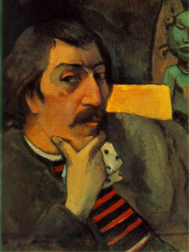 Self Portrait with the Idol - Paul Gauguin