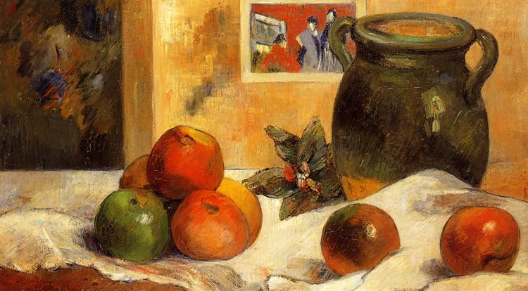 Still life with Japanese print, 1888 - Paul Gauguin
