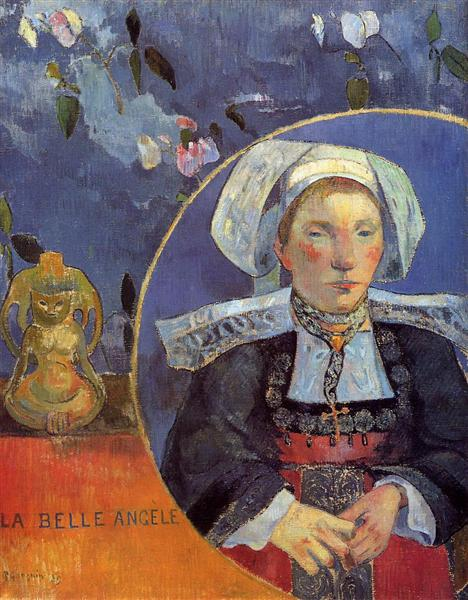 The Beautiful Angel (Madame Angele Satre, the Innkeeper at Pont-Aven), 1889 - Paul Gauguin