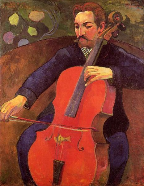 The Cellist (Portrait of Upaupa Scheklud), 1894 - Paul Gauguin
