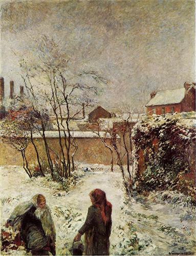 The garden in winter, rue Carcel - Paul Gauguin
