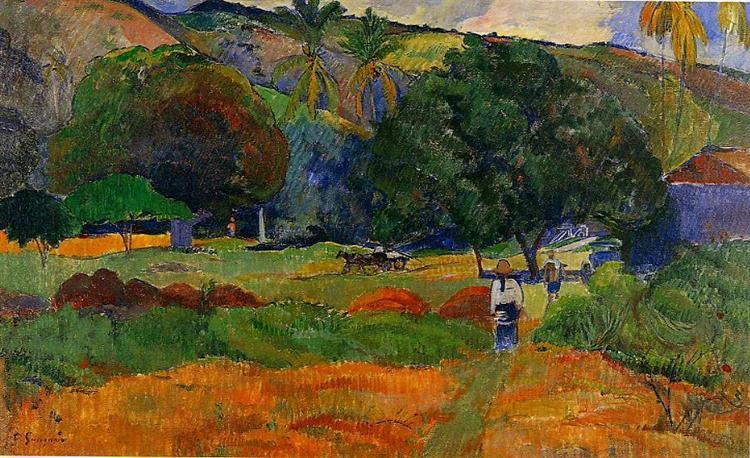 The little valley, c.1891 - Paul Gauguin
