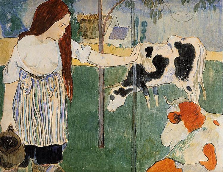 The milkmaid, 1889 - Paul Gauguin
