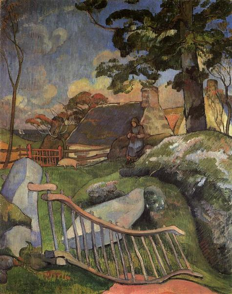 The Wooden Gate (The Pig Keeper), 1889 - Paul Gauguin