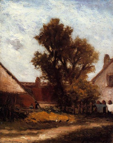 Tree in the farm yard, 1874 - Paul Gauguin