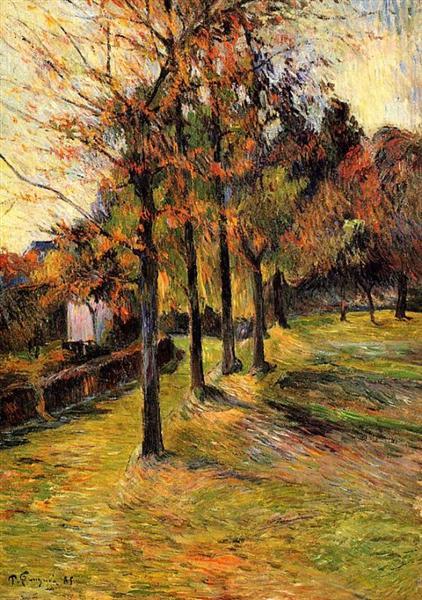 Tree linen road, Rouen, 1885 - Paul Gauguin