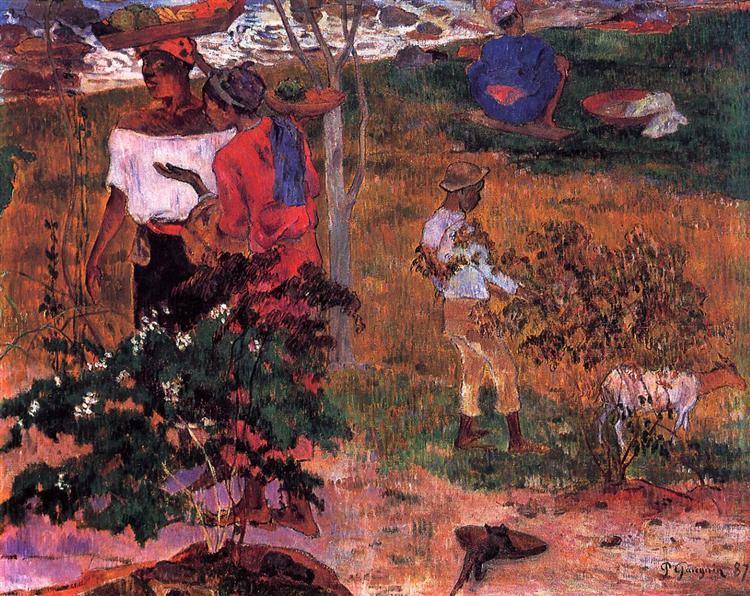 Tropical Conversation, 1887 - Paul Gauguin