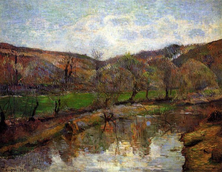 Upstream of Pont-Aven, 1888 - Paul Gauguin