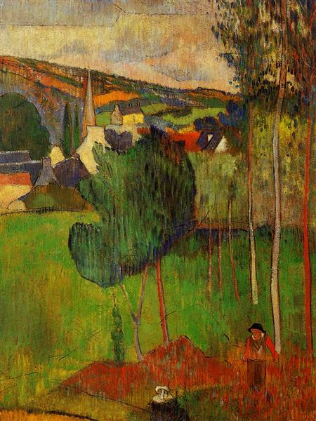 View of Pont-Aven from Lezaven, 1888 - Paul Gauguin