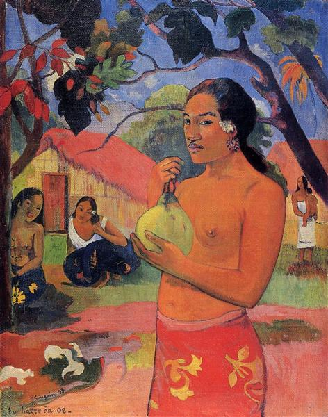 Woman Holding a Fruit, 1893 - Paul Gauguin