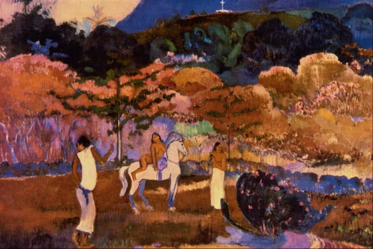 Women and white horse, 1903 - Paul Gauguin