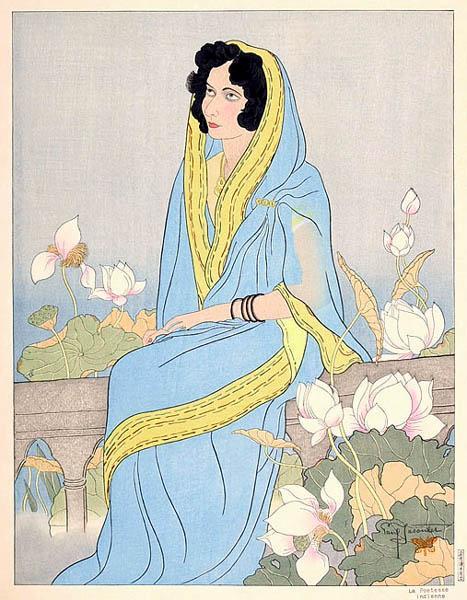 La Poetesse Indienne, 1941 - Paul Jacoulet