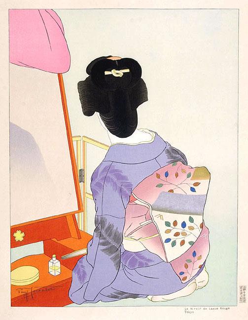 Le Mirror De Laque Rouge. Tokyo, 1938