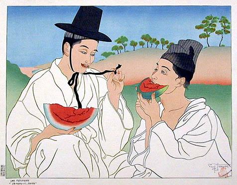 Les Pasteques Jo-hoku-ri, Coree, 1939
