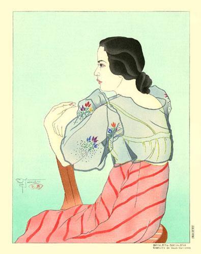 Melle. Rita Sablan-Diaz. Chamorro De Guam, 1934