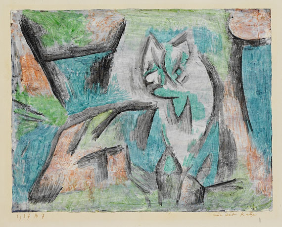A kind of cat, 1937 - 保羅.克利