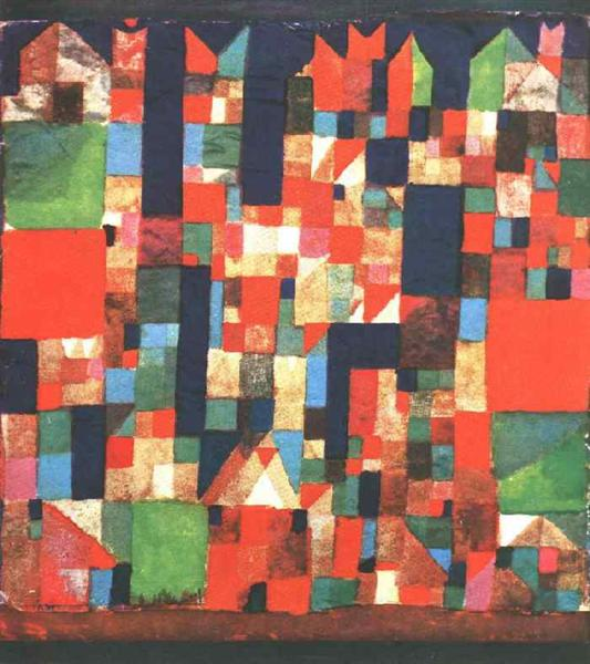 City Picture with Red and Green Accents, 1921 - Paul Klee