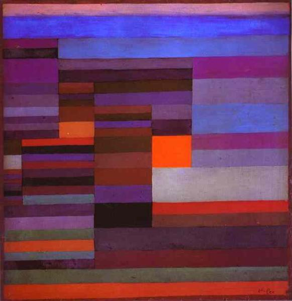 Fire evening, 1929 - Paul Klee
