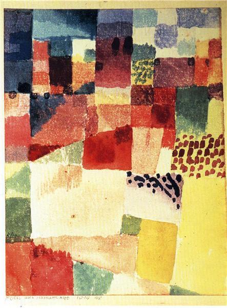 Hammamet, 1914 - Пауль Клее