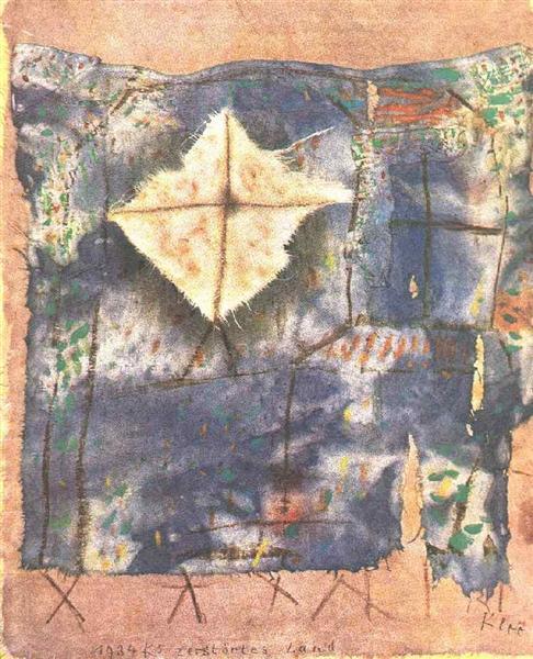 Ravaged land, 1921 - Paul Klee