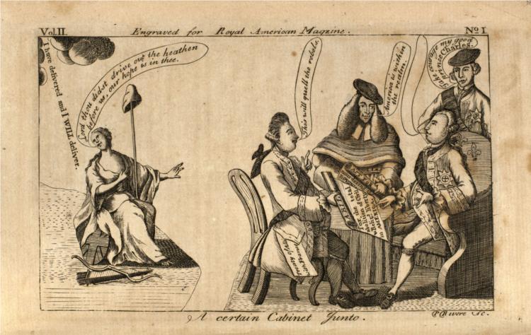 Cabinet Junto, 1774 - Paul Revere