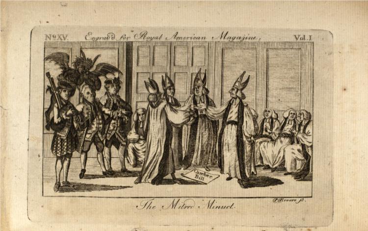 Mitred Minuet, 1774 - Paul Revere