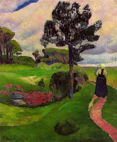 Mother and Child on a Breton Landscape, 1890 - Paul Serusier
