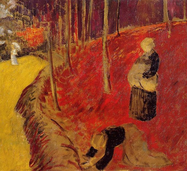 The Fern Harvesters in the Boid d'Amour at Pont Aven, c.1910 - Paul Serusier