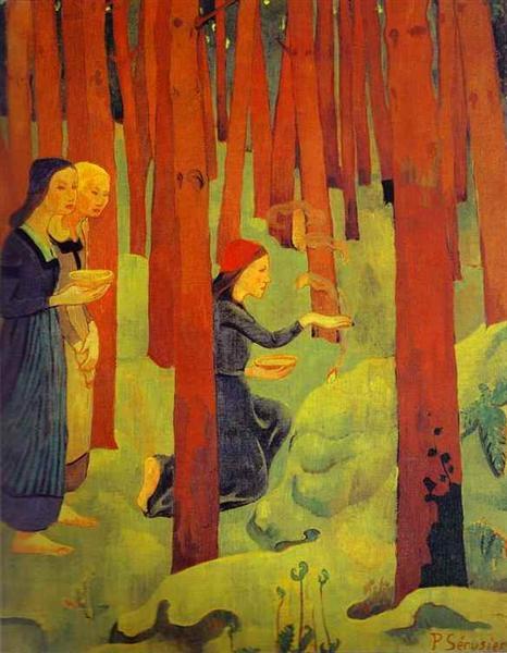 The Incantation (The Holy Wood), 1891 - Paul Sérusier