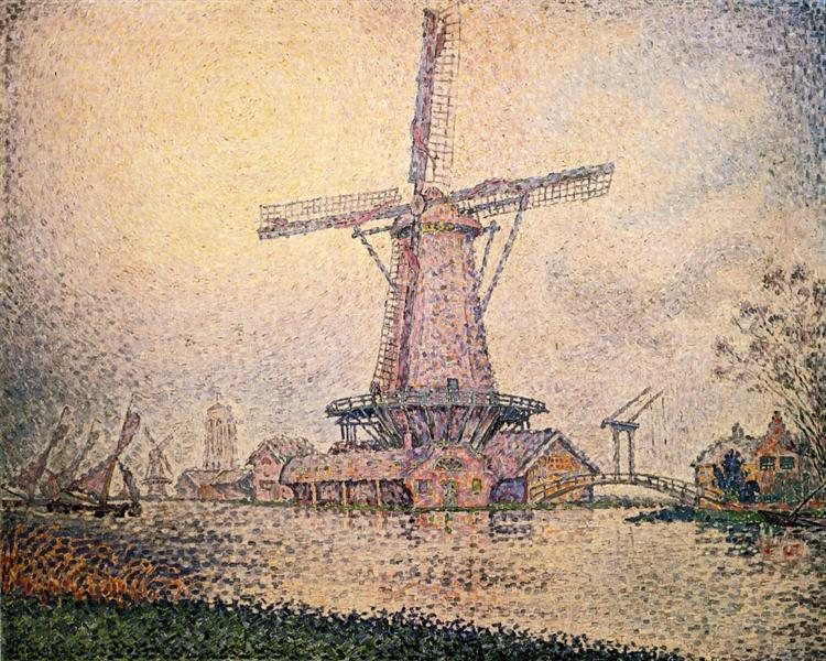 Dutch Mill at Edam, c.1898 - Paul Signac