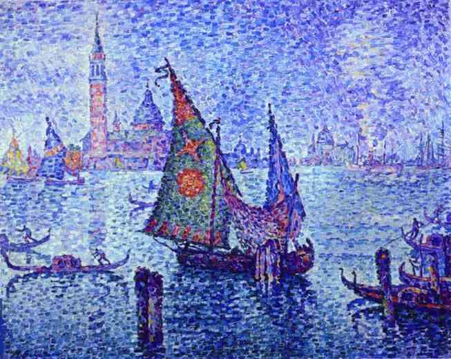 La Voile verte, 1904 - Paul Signac