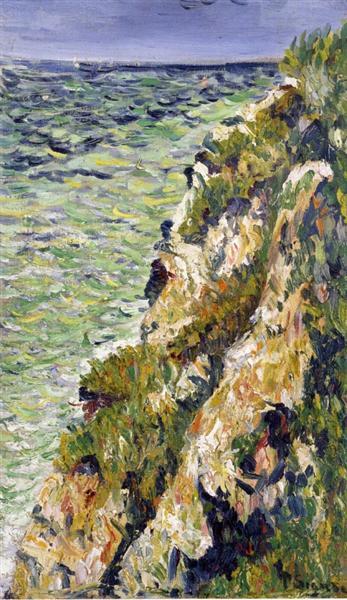 Port en Bessin, a Cliff, 1883 - Paul Signac