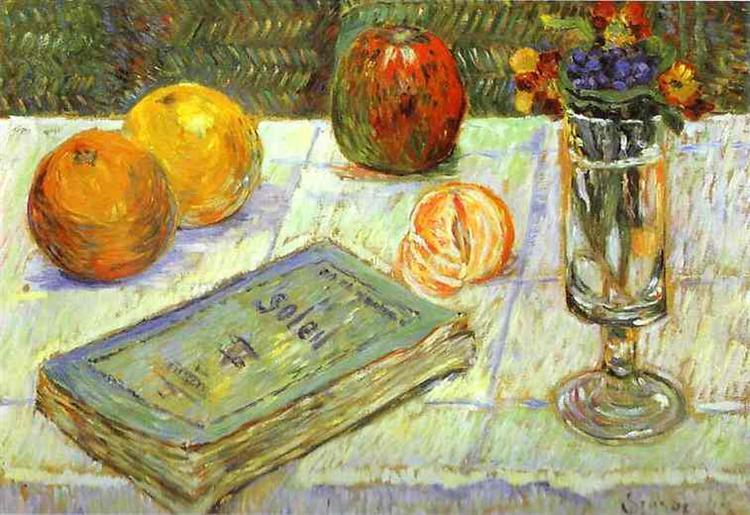 Still Life with a Book, 1883 - Paul Signac