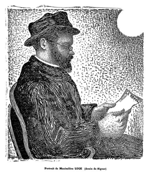 The Portrait of Maximilien Luce, 1891 - Paul Signac