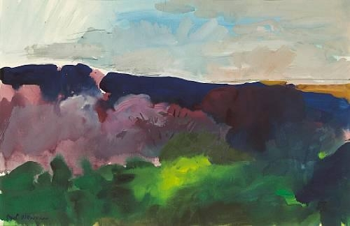 Landscape with Flowering Orchard, 1964 - Paul Wonner