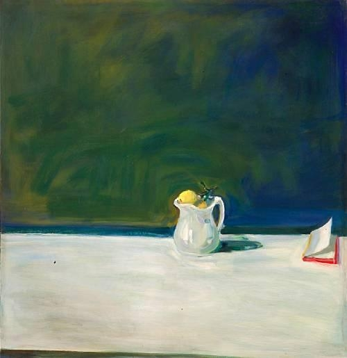 Pitcher, Lemons and Book, 1966 - Paul Wonner
