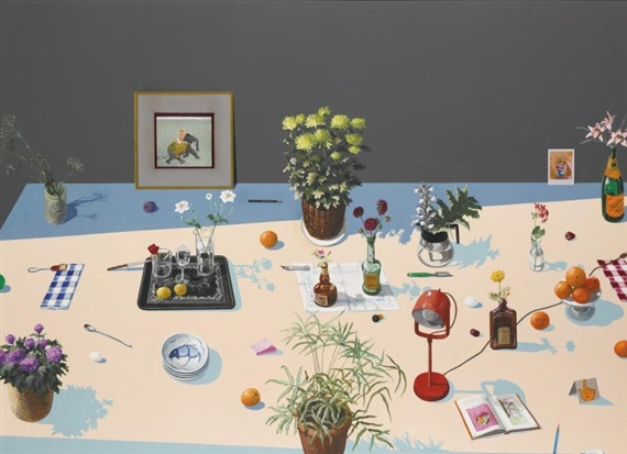 Still Life with Indian Miniature, 1980 - Paul Wonner