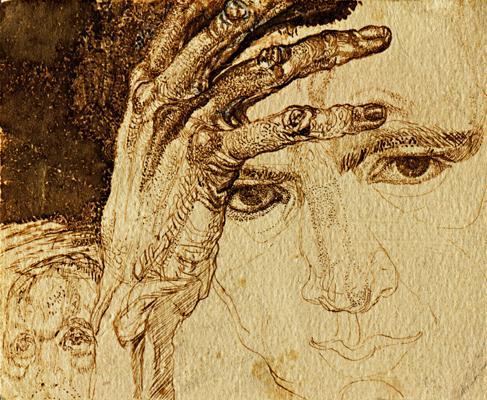 Self-portrait, 1911 - Pavel Filonov