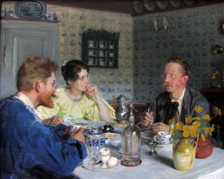 Lunch with Otto Benzon, 1893 - Peder Severin Kroyer