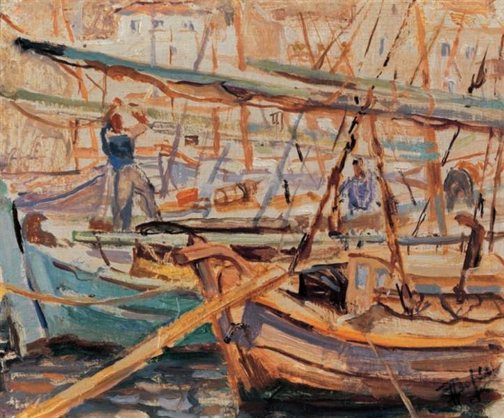 Boats, Hydra - Periklis Vyzantios