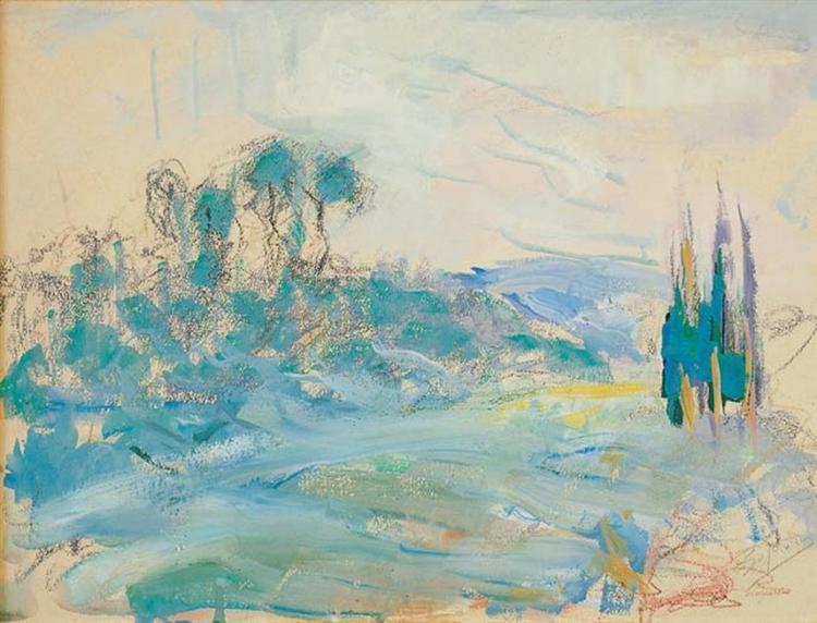 Landscape with trees - Periklis Vyzantios