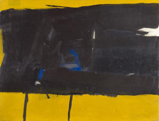Black on Yellow, 1952 - Perle Fine