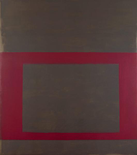 """Cool"" Series (Dark Pink over Brown), 1963 - Perle Fine"